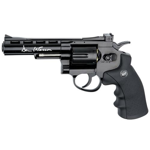 Dan Wesson 4 Inch CO2 Black 4.5mm Blowback Revolver