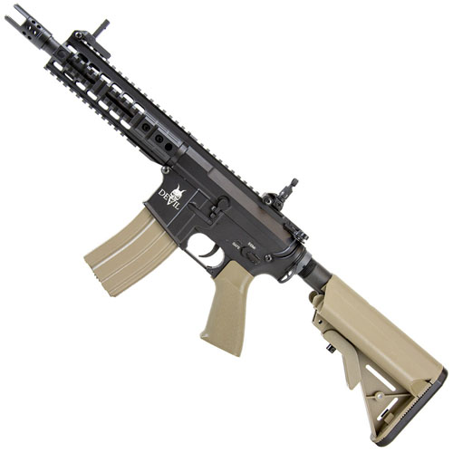 DEVIL AEG M15 CQB Tan Airsoft Rifle (7 Inch)