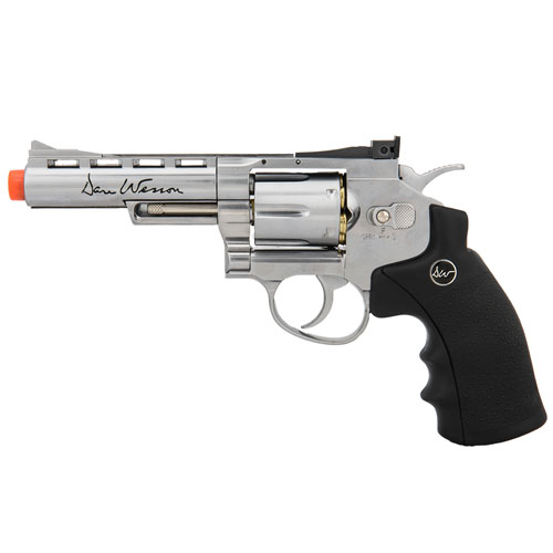 Dan Wesson MB-S CO2 Silver US Airsoft Revolver - Orange Tip