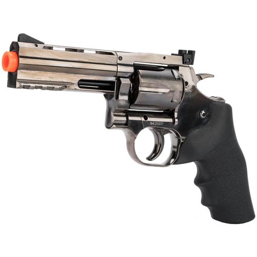 Dan Wesson GNB NBB CO2 Steel Grey Airsoft Revolver - Orange Tip