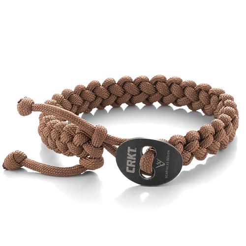 CRKT Quick Release Large Tan Paracord Bracelet