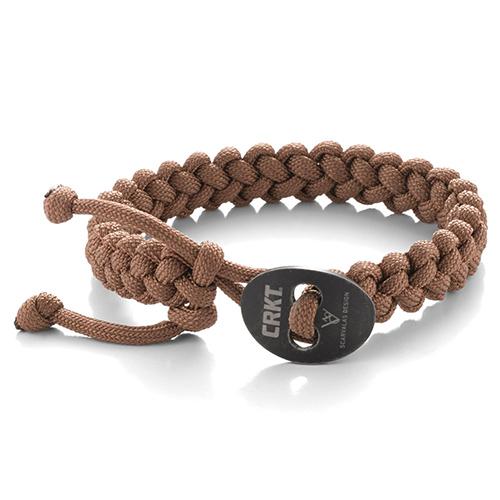CRKT Quick Release Small Tan Paracord Bracelet