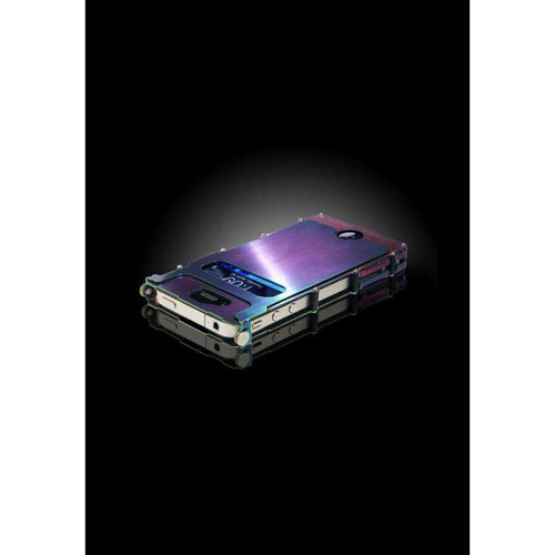 CRKT iNoxCase Stainless Steel iPhone 4 CaseRainbow