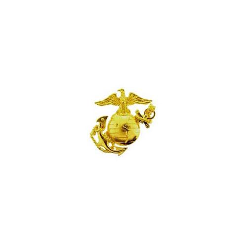 Left Medium Gold 1-1/4 Inch Usn Pin
