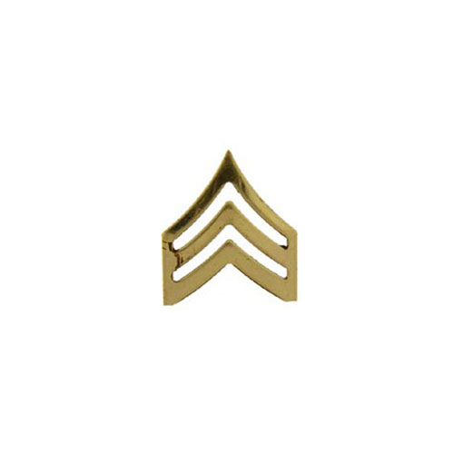 Rank-Army 1 Inch E5 SGT Gold