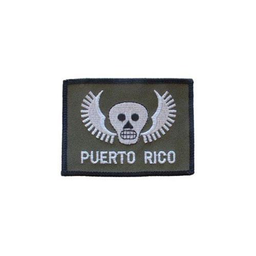 PATCH-PUERTO RICO,SKULL