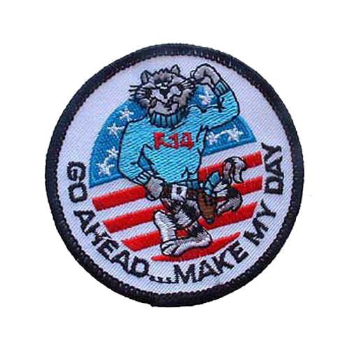Usn Tomcat Go Ahead 3 Inch Patch