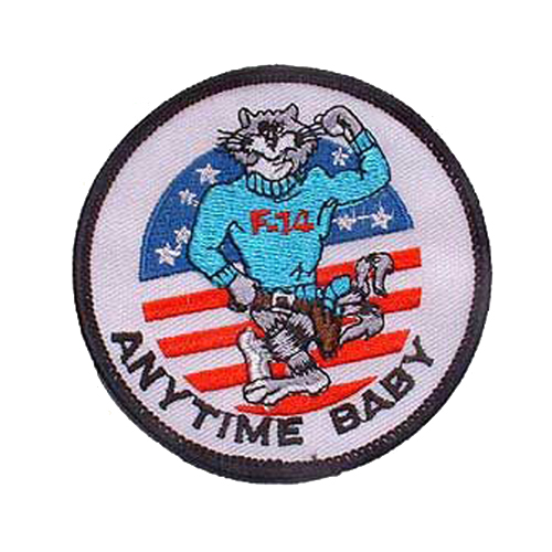 US Navy Tomcat Anytime 3 Inch Patch