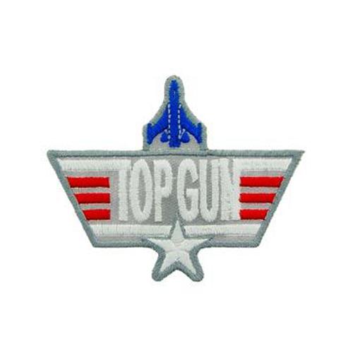 Usn Top Gun Grey 3 Inch Patch