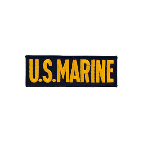 5 1/4 Inch USMC Tab Golden And Black Patch