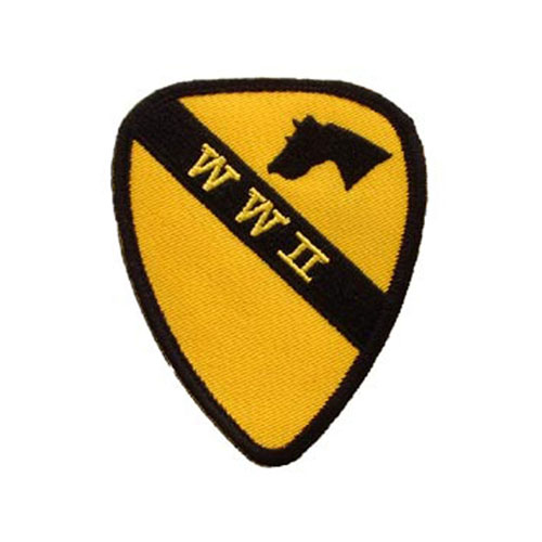 3 1/2 Inch WWII 001ST Logo Patch