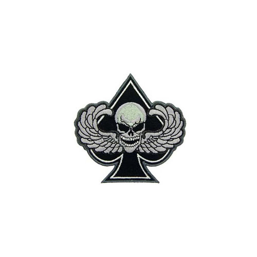 Black And White Patch Death Wing Spade