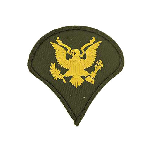 3 Inch Army Dress Green Spec-4 Patch