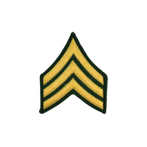 Patch Army E5 SGT Pair Dress Green