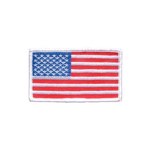 USA Ractangle White Flag Patch