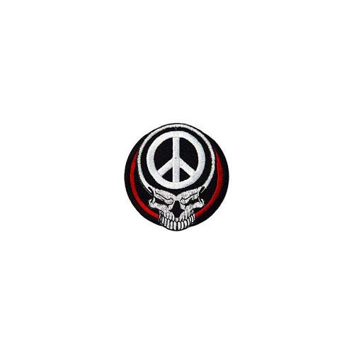 Patch 3 Inch Skull Peace Sign