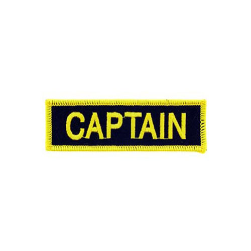 Captain Fire Tab Black And Golden Patch