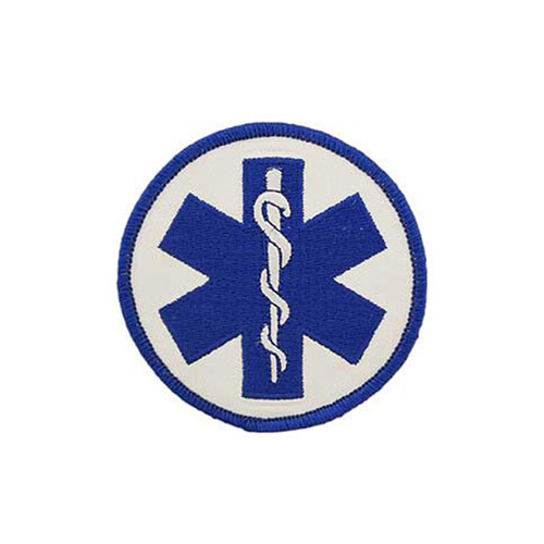 Patch3 Inch Ems Logo-Plain Staff Of Asclepius