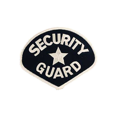 4 3/4 Inch Security Guard White and Black Patch