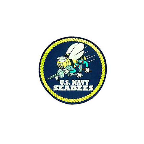 Patch 10 Inch Usn Seabees Logo
