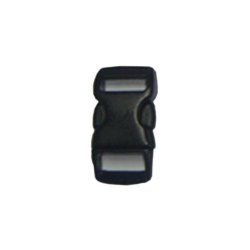 Black 1/2 Inch Plastic Buckle