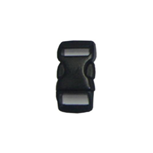 Black 3/8 Inch Plastic Buckle