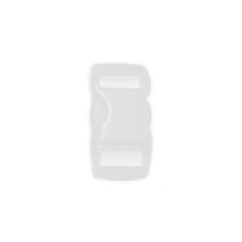 White 3/8 Inch Plastic Buckle