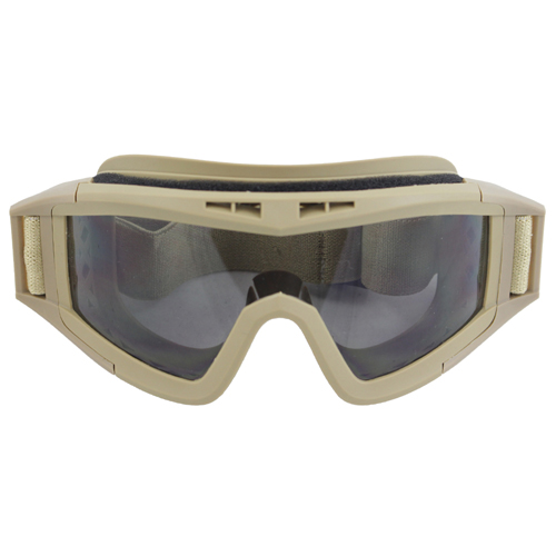 Military Style Basic Airsoft Goggle - Tan