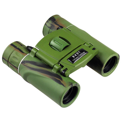 Mini 8x21 Foldable Camo Binoculars