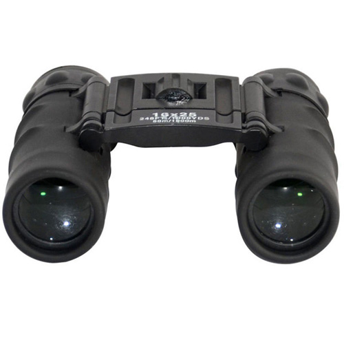 Foldable 16x25 Black Binoculars