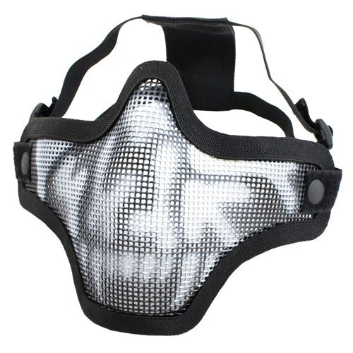 Gear Stock Half-Face Airsoft Mask - Black Skull