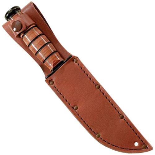 Ka-Bar 1-1217I-1 Plain Brown Leather Sheath