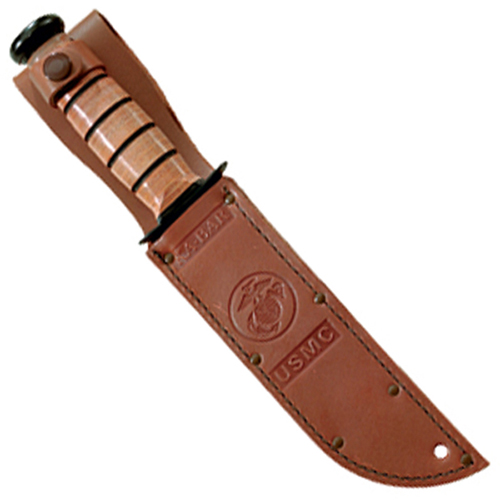 Ka-Bar 3-1250S-2 Usmc Logo Brown 5 1/4 Inch Leather Sheath