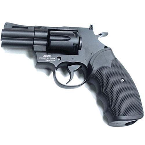 KWC KM66DN 2.5 Inch Black Steel BB Revolver