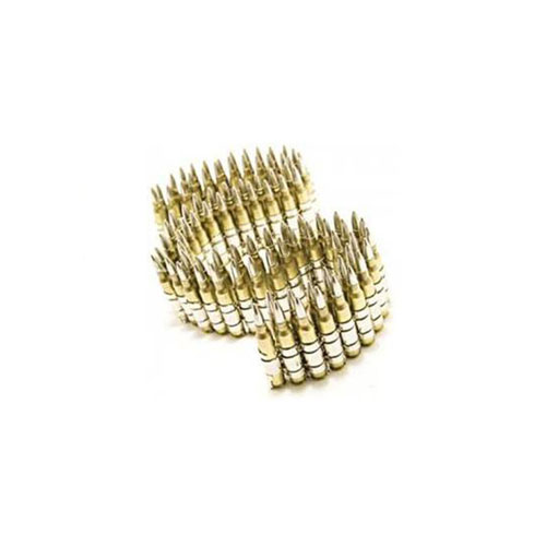 M249 223 Brass Bullet Belt With Nickle Tips And Silver Links