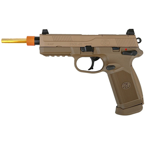 FN Herstal FNX-45 Green Gas Airsoft Pistol - Tan