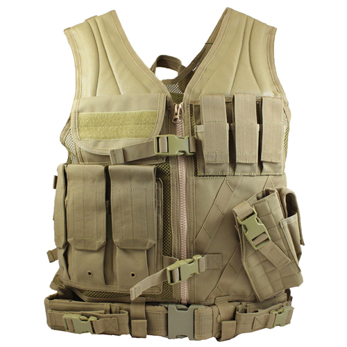 Raven X Crossdraw Holster Tactical Vest - Tan