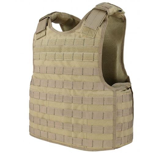 Padded Mesh Plate Carrier Vest (Tan)