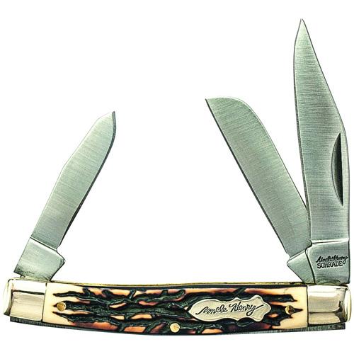 Schrade Rancher 3 5/16 inch Closed 3 Blade Folder