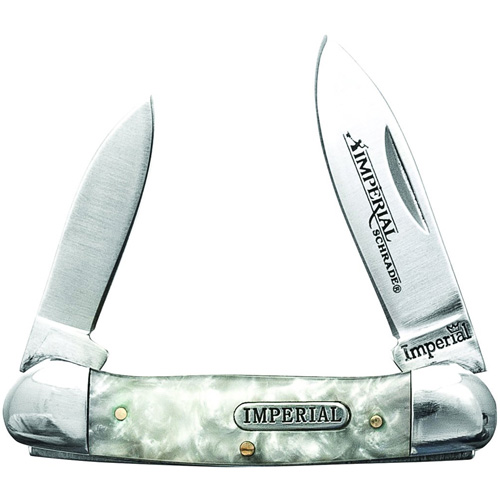 Schrade Imperial Cracked Ice Small Canoe Folding Knife