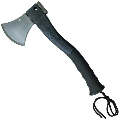 Schrade 3Cr13 Stainless Steel Blade With Fire Starter Rubber Handle Axe