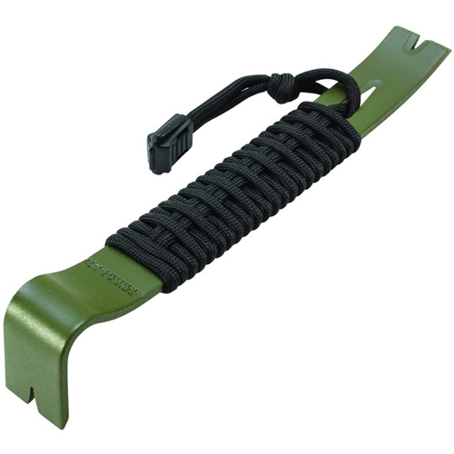 Schrade Olive Drab Green Paracord Wrapped 7.5 Inch Overall Pry Bar