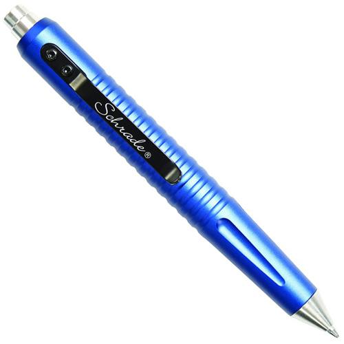 Schrade MATTE Blue Push Button Tactical 5.06 Inch Overall Pen
