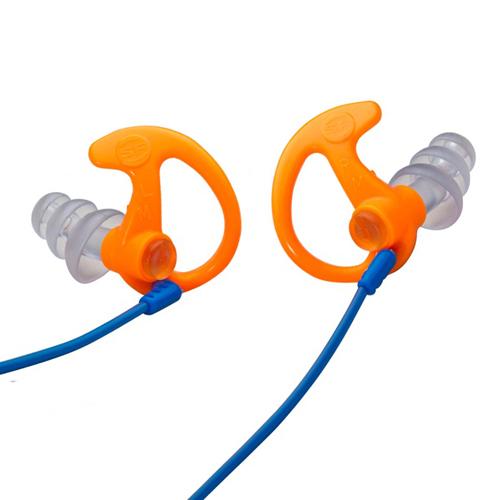 Triple Flanged Orange Medium 1 Pair Full-Block Earplugs