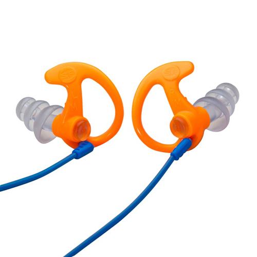 Triple Flanged Orange Small 1 Pair Full-Block Earplugs