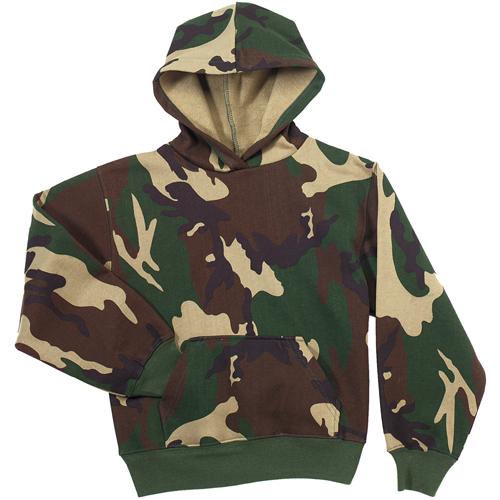 Kids Camo Pullover Hooded Sweatshirt