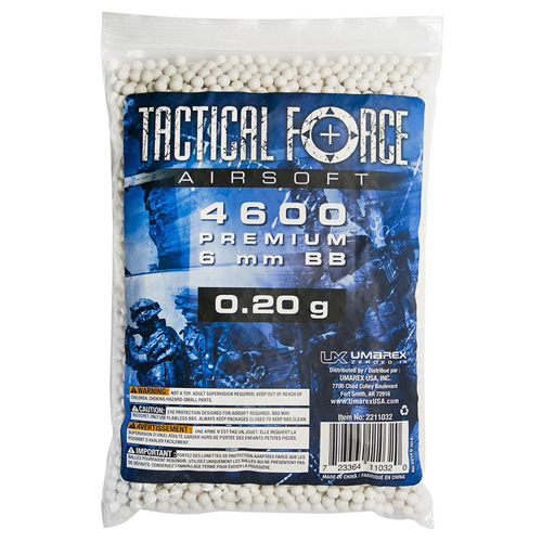 Tactical Force .20g 6mm Airsoft BBs 4600ct