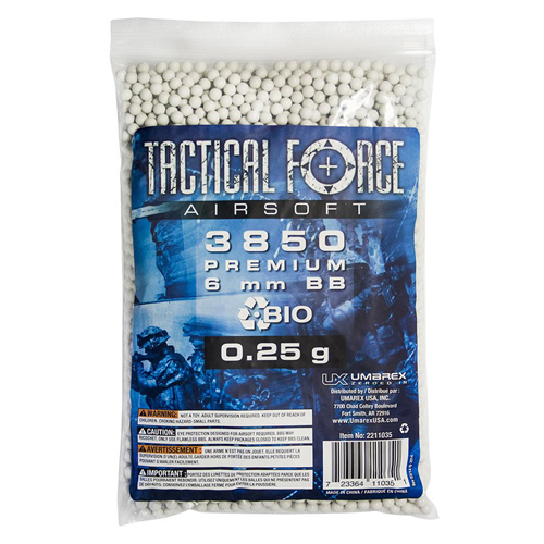 Tactical Force .25g 6mm Bio Airsoft BBs 3850ct