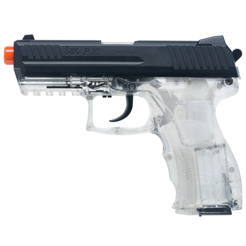 Heckler and Koch Clear P30 Spring with Metal Slide Airsoft Gun
