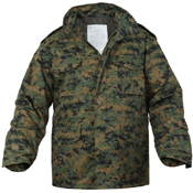 Mens M-65 Camo Field Jacket